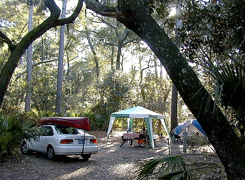 A campsite at Hunting Island State Park in South Carolina Car Camping.jpg