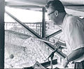 Caray and net 1957.JPG