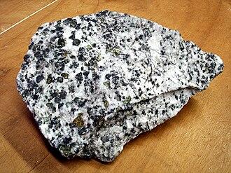 Carbonatite - Carbonatite from Jacupiranga, Brazil.  This rock is a compound of calcite, magnetite and olivine