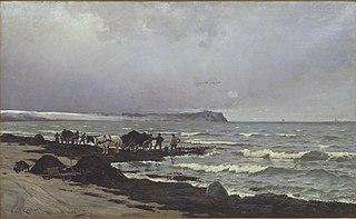 Der læsses tang ved Hornbæk Strand