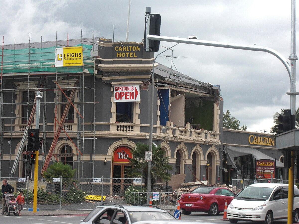 Christchurch Wikipedia: Carlton Hotel, Christchurch