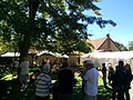 Carmelite Festival 2015 live band with the Carmelite Monastery of Salt Lake City seen in back.jpg