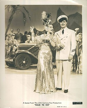 That Night in Rio - Carmen Miranda and Don Ameche in scene in the film.
