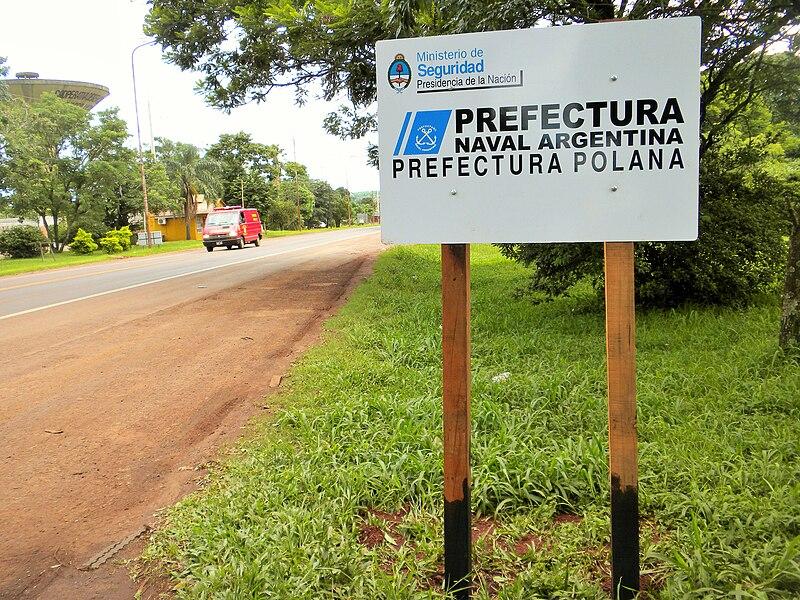 File:Cartel Colonia Polana (Misiones, Argentina) - Prefectura Naval Argentina - Prefectura Polana.JPG