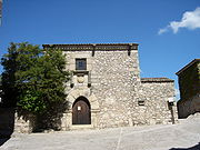 Recreation of Pizarro's 16th century home. A room in the upstairs elucidates on the conquest of the Americas; Trujillo, Spain.