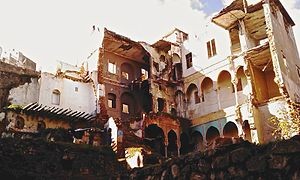 Battle of Algiers (1956–57) - The remains of a house in the Casbah of Algiers destroyed in the explosion that killed Ali la Pointe