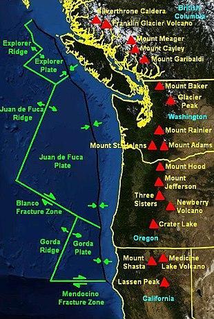 Cascadia Subduction Zone Wikipedia - West coast fault lines