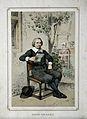 Caspar van Baerle (Barlæus). Colour lithograph by W. P. Hoev Wellcome V0000292.jpg