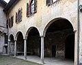 Castiglione olona, palazzo branda, esterno, loggia sul giardino 02.jpg