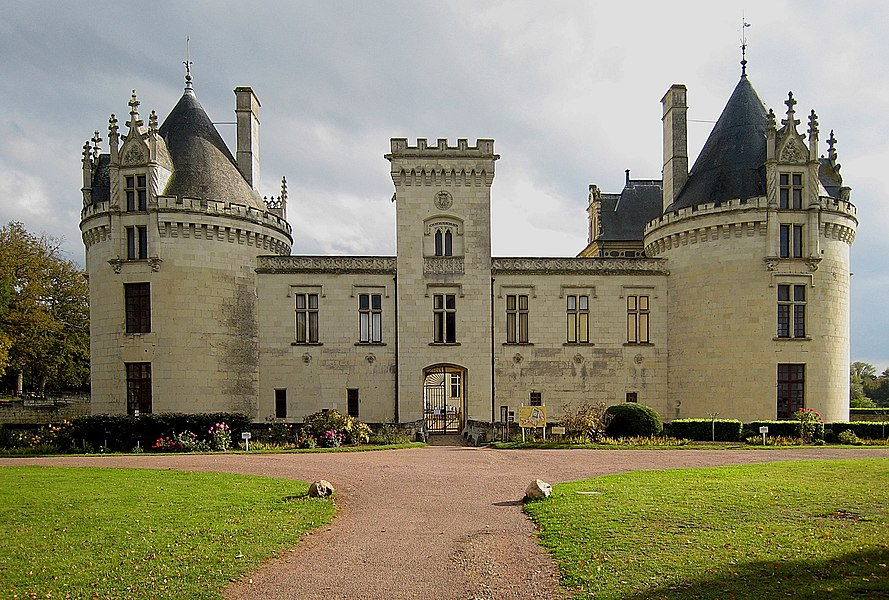 Entrance of the Castle of Brézé, located in the departement of Maine-et-Loire, France.
