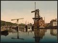 Catharine Bridge and windmill, Haarlem, Holland-LCCN2001699507.tif