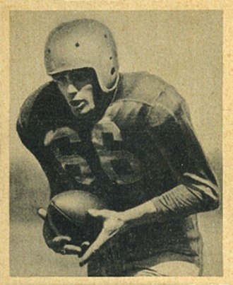 Cecil Souders - Souders on a 1948 Bowman football card
