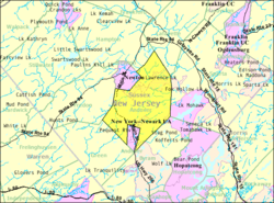 Census Bureau map of Andover Township, New Jersey.