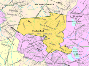 Florham Park, New Jersey - Image: Census Bureau map of Florham Park, New Jersey