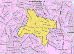 Census Bureau map of Ridgewood, New Jersey