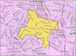 Census Bureau map of Ridgewood, New Jersey