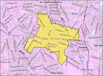 Ridgewood, New Jersey - Image: Census Bureau map of Ridgewood, New Jersey