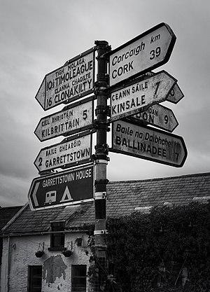 Ballinspittle - Image: Central Sign in Ballinspittle