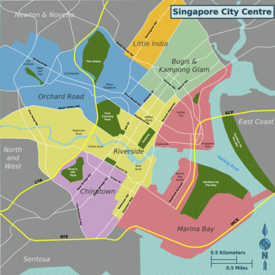 Map of Singapore City Centre.
