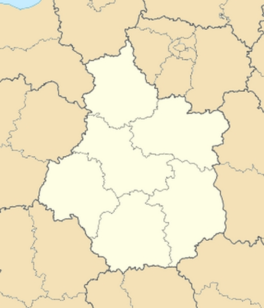 Mauvières is located in Centre-Val de Loire