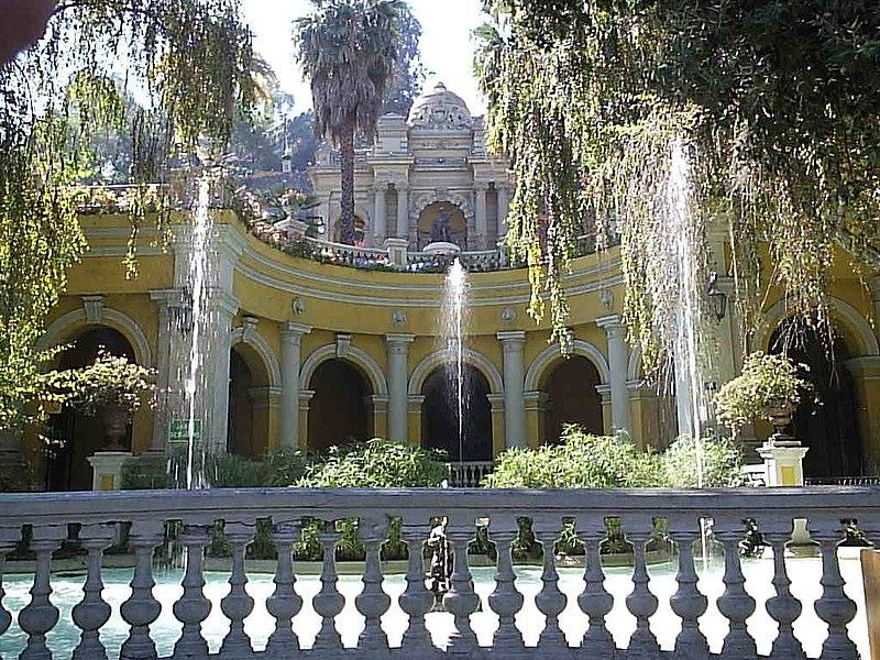 Taman Cerro Santa Lucia, Santiago, Chili.