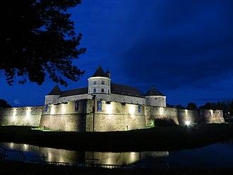 Foundation of Wallachia - Image: Cetatea Fagaras by night