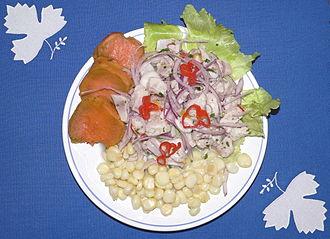 Peruvian cuisine - Peruvian ceviche platter