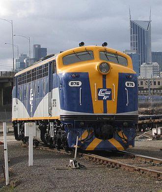 Victorian Railways B class (diesel) - Chicago Freight Car Leasing Australia B76 in Melbourne in August 2006