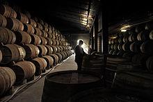 Un caratteristico chai (cantina) di invecchiamento del cognac