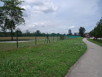 A chain-link wire fence surrounding a field Chain link fence surrounding a field in Jurong, Singapore.jpg