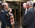 Chairman of the Joint Chiefs of Staff Army Gen. Martin E. Dempsey, left, and his wife, Deanie, meet with retired U.S. Marine Corps Maj. Gen. Ed Usher, president and CEO of the Marine Corps Association 120906-A-TT930-007.jpg