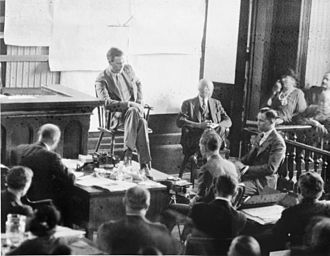 Hunterdon County Courthouse - Lindbergh on the witness stand