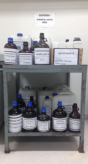 Chemical waste - How to properly label, package, and store chemical waste safely.