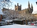 Chester cathedral in the snow 2 - geograph.org.uk - 1660522.jpg