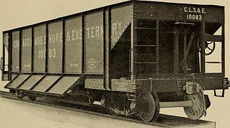 Elgin, Joliet and Eastern Railway - Image: Chicago, Lake Shore & Eastern Railway hopper (1913) (14758040862)