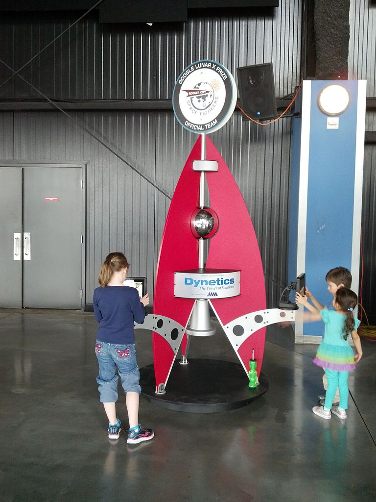 File:Children simulate moon missions at U.S. Space ...