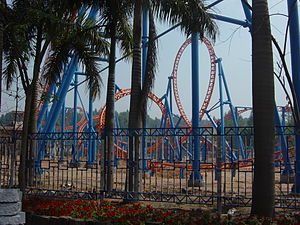 Chimelong Paradise - 10 Inversion Roller Coaster under construction in 2006