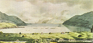 Unalaska, Alaska - The port of Unalaska in 1816.