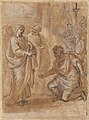 Christ and the Centurion (recto); Figure Waving to Departing Ship (verso). MET 2006.393.23a.jpg