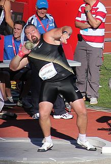 Christian Cantwell American shot putter