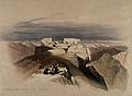 Christian and Muslim chapels on Mount Sinai. Coloured lithog Wellcome V0049446.jpg
