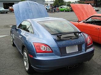 Spoiler (car) - Retractable spoiler on a Chrysler Crossfire