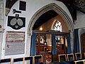 Church of St John, Finchingfield Essex England - North chapel screen and Ruggles Brise memorials.jpg