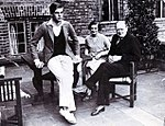 Churchill with children Randolph and Diana.jpg