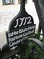 Churchwarden's plaque within churchyard of St Peter Westcheap - geograph.org.uk - 921909.jpg