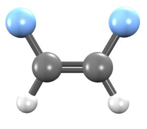 1,2-Difluoroethylene - Image: Cis 1,2 difluoroethene