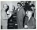 City Clerk Walter J. Malloy swears in John Ryan of the Boston Redevelopment Authority as Mayor John F. Collins watches (12463314884).jpg