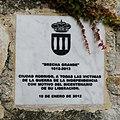Ciudad Rodrigo, Placa comemorativa 2012.jpg
