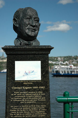 Clarence Gagnon - Bust of Clarence Gagnon in Quebec City.