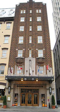 Clarendon hotel wikipedia for Hotel design quebec